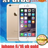 iphone 6/16gb gold garansi distributor 1thn