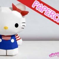 DIY Miniatur Papercraft Hello Kitty