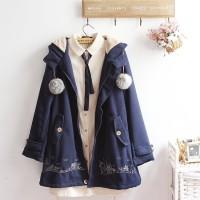 City Embroidery Coat Cute Jacket Japan Korean Style ready akhir jan 20
