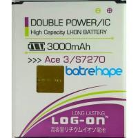 Baterai Double Power Log-On Logon Samsung Galaxy Ace 3 Ace3 S7270
