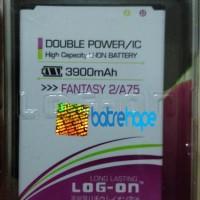 Baterai Double Power Log-on Logon Mito Fantasy 2 A75 ( BA-00064 )
