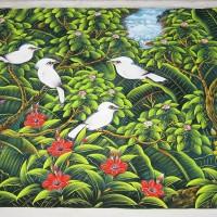 harga Lukisan Burung Background Hijau dari Bali Tokopedia.com