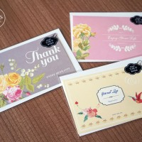 Jual kartu ucapan greeting card terima kasih kosong blank card vintage Murah