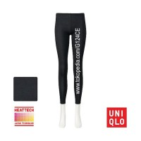 CELANA LONGJOHN WANITA UNIQLO HEATTECH WOMEN LEGGING 172177 black