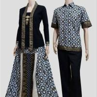 Couple batik sarimbit kebaya kartini baju pesta pasangan seragam 436