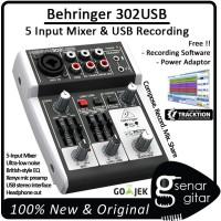 harga Behringer Xenyx 302 USB, 5 Input USB Mixer (Audio Recording 302USB) Tokopedia.com
