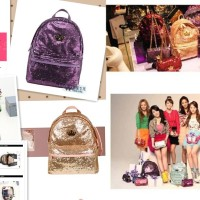 J-ESTINA SEQUIN BACKPACK tas ransel crown black pink purple snsd korea