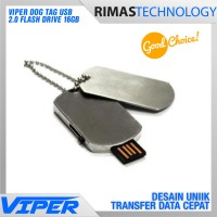 Dog Tag USB 2.0 Flash Drive 16GB Flashdisk Bentuk Kalung Anjing 16 GB