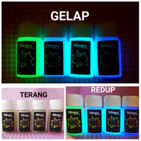 cat glow in the dark paint 10ml cat fosfor varnish gloss bubuk fosfor