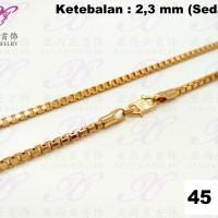 Kalung emas Italy bulat (sedang) Perhiasan imitasi Gold 18k Yaxiya 300