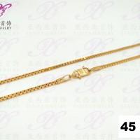Kalung emas Italy kaca Perhiasan imitasi Gold 18k Yaxiya Jewelry 303