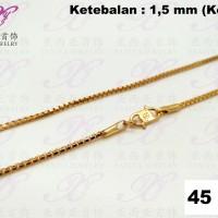Kalung emas Italy bulat (kecil) Perhiasan imitasi Gold 18k Yaxiya 299