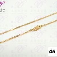Kalung emas Rantai polos kecil Perhiasan imitasi Gold 18k Yaxiya 307