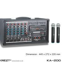 Portable Amplifier System Audio Mixer Krezt K 200