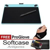 Jual Wacom Intuos Art CTH490 Small Blue FREE Softcase + Antigores + Glove Murah