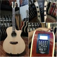 harga Gitar Akustik Elektrik Eqtuner Neck Maple Coleclark Custom Tokopedia.com