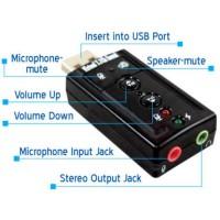 USB SOUND 7.1 CHANNEL / USB SOUND CARD VERSI 7.1
