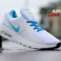 Nike Airmax Zero Running Pria Wanita Warna Putih Lis Biru Toko Sepatu