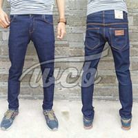 Celana Jeans Wrangler Slimfit Biru Dongker Size 28-34 murah keren gaul