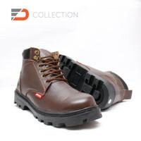 Sepatu Safety Boot Bahan Kulit Sapi Asli Vs.02 u/ pria wanita unisex c