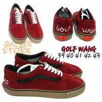 Vans Golf Wang Red Black u/ pria wanita unisex casual boots kerja kuli