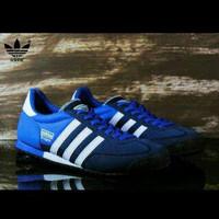 Ready Lagee!!! Sepatu Casual Adidas Dragon Warna Biru Navy List Putih