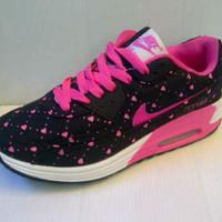 Sepatu Ladies Nike Airmax 90 Love Warna Hitam Pink u/ pria wanita unis