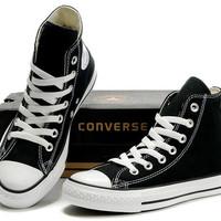 Sepatu Casual Converse High For Man Warna Hitam u/ pria wanita unisex