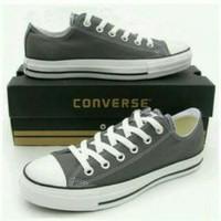 Sepatu Casual Converse Warna Abu Model Pendek u/ pria wanita unisex ca