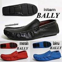 Sepatu Kulit Bally Slip On Slop Casual Kerja Kantor Pria Toko Gudang S