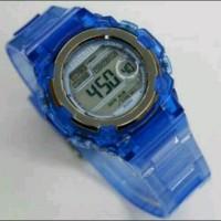 Jam Tangan Unisex Favorite Digital Transparan Blue kw Super