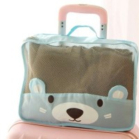 tas travelling travel bag koper bear unik lucu imut transparan