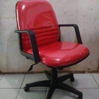 Kursi Kantor Manager Motif Merah Murah (baru)
