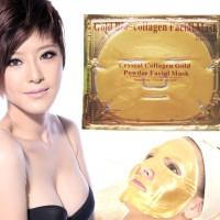 Gold Bio Collagen Facial Mask - MASKER TOPENG EMAS - CRYSTAL GOLD MASK