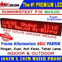 LED RunningText 100X20 MASJID / Running Text MESJID Red Color Murah