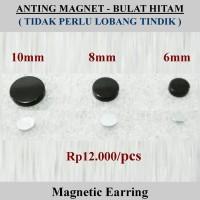 Anting Magnet - Bulat Hitam