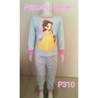 Setelan baju tidur anak perempuan Princess Belle (P310)