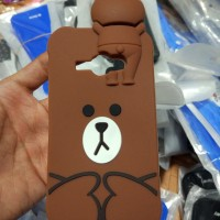 Samsung Galaxy J1 ACE 3D Cartoon Teddy Brown #2 Soft Silicone
