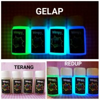 cat glow in the dark paint cat fosfor bubuk fosfor bahan craft