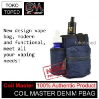 Authentic Coil Master PBag | DENIM | vapor bag tas rda vaporizer
