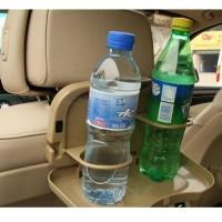 Meja Gantung Lipat Mobil Car Travel Dining Tray Tempat Botol Makan U