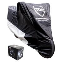 Promo Sarung Motor TDR Motorcycle Cover Size M Black/Silver Original