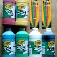 Crayola - 6 Botol Cat Air Acrylic Isi 946 Ml