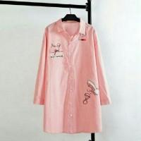 Kemeja Tunik (M - Fit L) ANDINI - Katun Rayon - Kantor Fashion Kerja