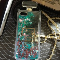 Case Coco Chanel Water Glitter Bottle parfum Iphone 5 /5s