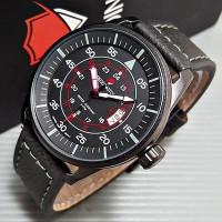 Jam Tangan Pria / Cowok Reddington Number Original Leather Jam Tangan