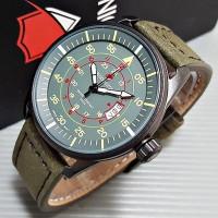 Jam Tangan Pria / Cowok Reddington Number Original Leather Gre Jam