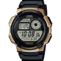 Jam Tangan Pria Casio Digital AE-1000W-1A3 World Time 10 Years Battery