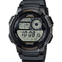 Jam Tangan Pria Casio Digital AE-1000W-1A World Time 10 Years Battery