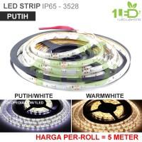 Jual Lampu LED Strip Flexible Putih Roll 5 Meter 6W IP65 SMD 352 Murah